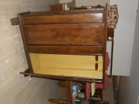Boscardin mobili - 58 - Armadietto guardaroba in stile 600 tappezzato.